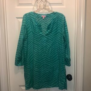 Lilly Pulitzer linen tunic size L